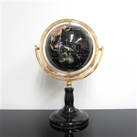 150mm Black Ocean Gemstones Globe