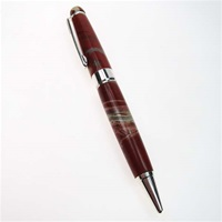 White Stripe Jasper Stone Pen
