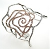 Silver Bangle (Rose Gold Plated) w/ White CZ (Rose)