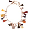 Silver Bracelet (Rose Gold Plated) w/ White CZ, Amber, Agate & Carnelian (Cone Cut)
