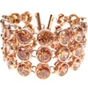 Silver Bracelet (Rose Gold Plated) w/ Dark Champagne CZ