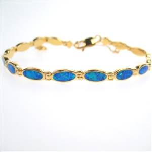 Silver Bracelet Gold Plated With
