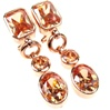 Silver Earrings (Rose Gold Plated) w/ Dark Champagne CZ