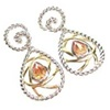 Silver Earrings W/ Champagne CZ