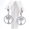 Silver Earring with White CZ