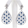 Silver Earring with White & Sapphire CZ