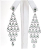 Silver Earring with White & Emerald Green CZ
