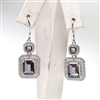 Sterling Silver Earrings with Rainbow Mystic Quartz and White CZ