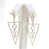 Silver Earring (Gold Plated) with White CZ