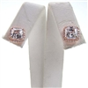 Silver Earrings (Rose Gold Plated) with White CZ