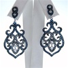 Silver Earrings w/ White & Sapphire CZ