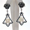 Silver Earrings w/ w/ MOP, White & Sapphire CZ