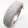 Silver Bangle w/ White CZ