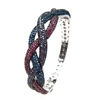 Silver Bangle with Multi-Color CZ