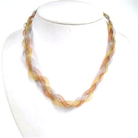 Silver Necklace (Gold, Silver & Copper Plated) (Braid)