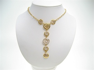 Silver Necklace w/ White CZ (Gold Plated)
