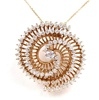 Silver Pendant (Rose Gold Plated) w/ White CZ