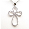Silver Pendant with White CZ