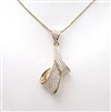 Silver Pendant (Gold Plated) with White CZ