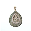 Silver Pendant (Gold Plated) with White CZ and Labradourite
