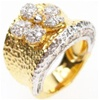 Silver Ring (Gold Plated) w/ White CZ