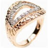 Silver Ring (Rhodium & Rose Gold Plated) w/ White CZ