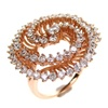 Silver Ring (Rose Gold Plated) w/ White CZ