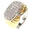 Silver Ring (Rhodium Plated + Gold Plated) W/ White CZ