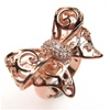 Silver Ring (Rose Gold Plated) w/ White CZ   (Butterfly)