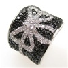 Silver Ring w/ Black & White CZ