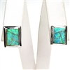 Silver Earring with Inlay Created Opal