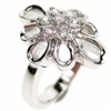 Silver Ring (Rhodium Plated) w/ White CZ